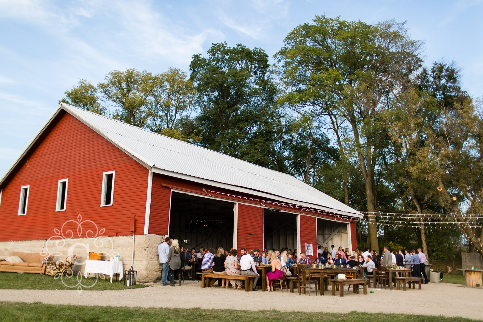 Rustic MN Farm Wedding Photo