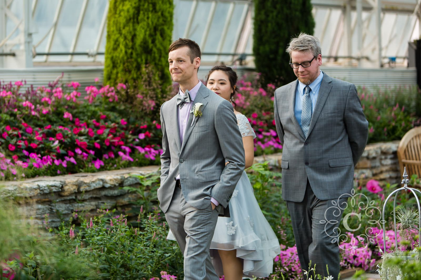Marjorie McNeely Conservatory St Paul MN Wedding Photo