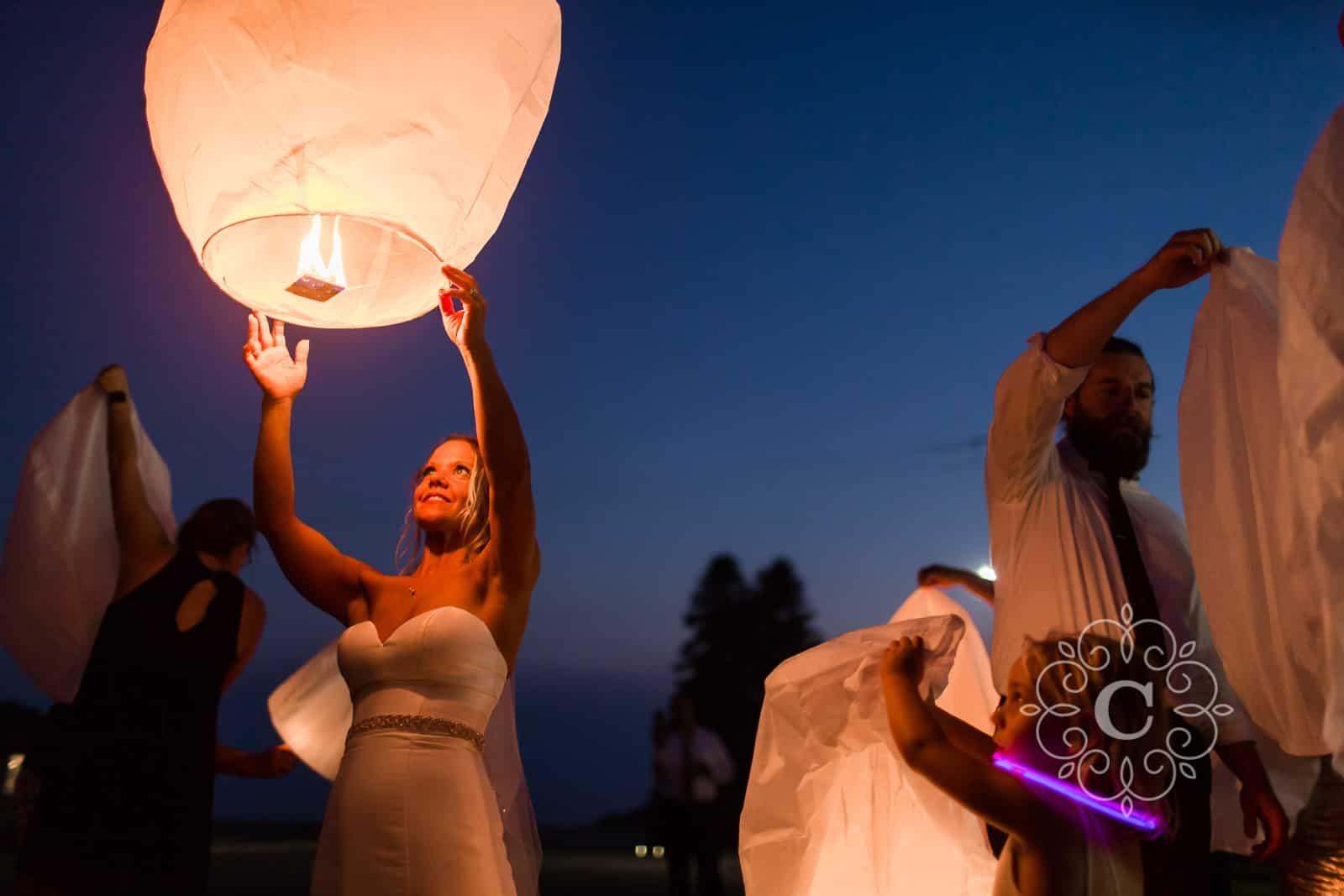 Minnesota Barn Lantern Wedding Photos