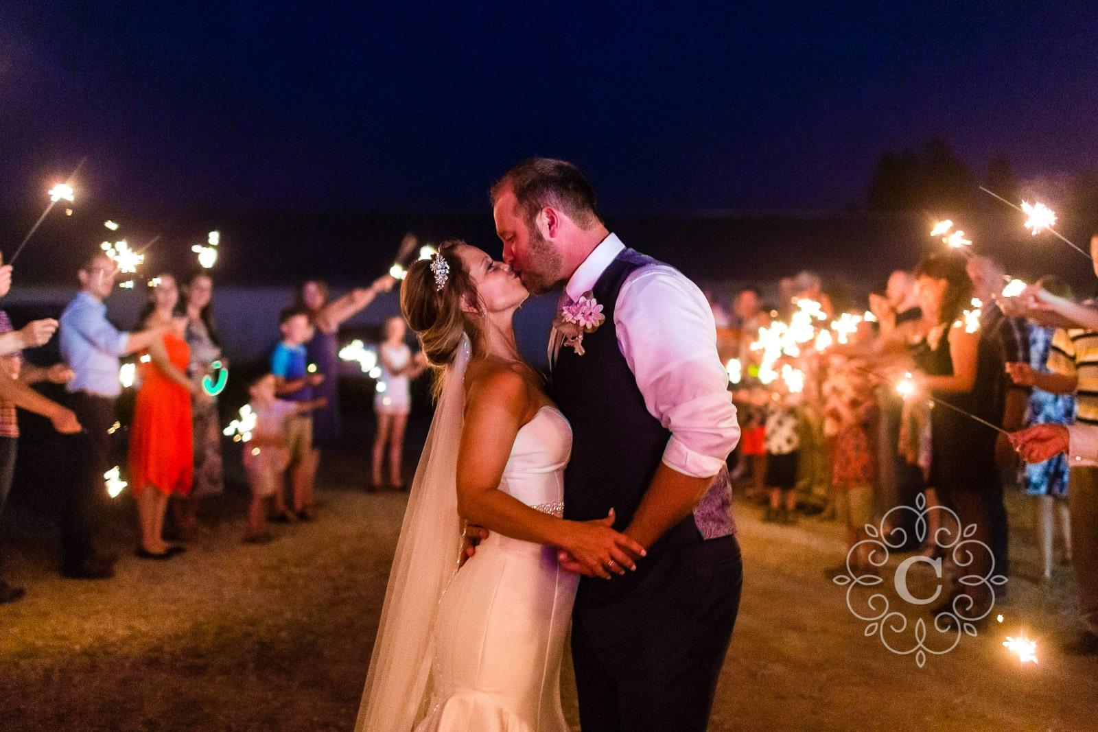 MN Barn Sparkler Wedding Photos