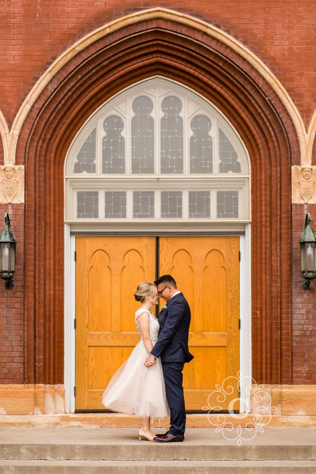 Ascension Catholic Church Minneapolis Wedding Photo