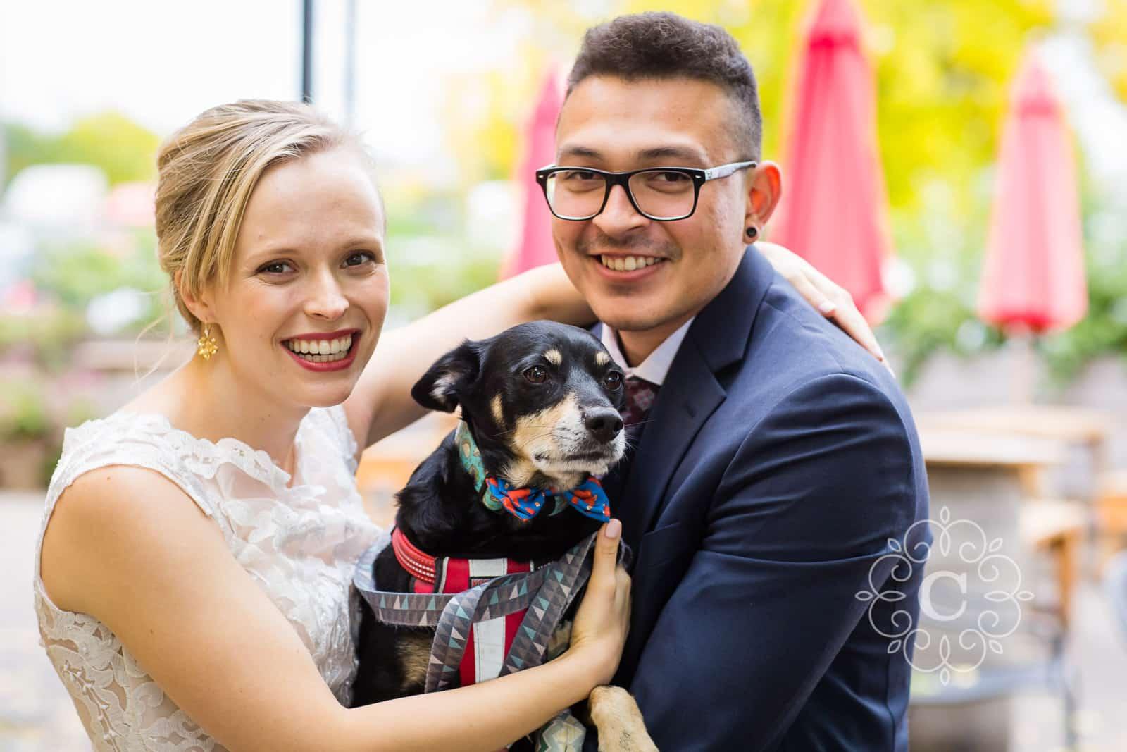 Urban Growler Brewing Company Wedding Reception Dog Photo