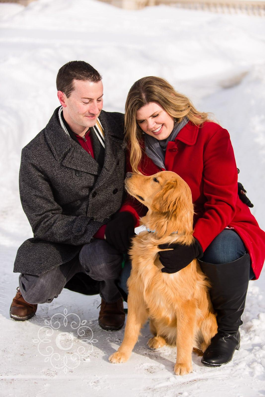 Como Park Winter Dog Engagement Photos