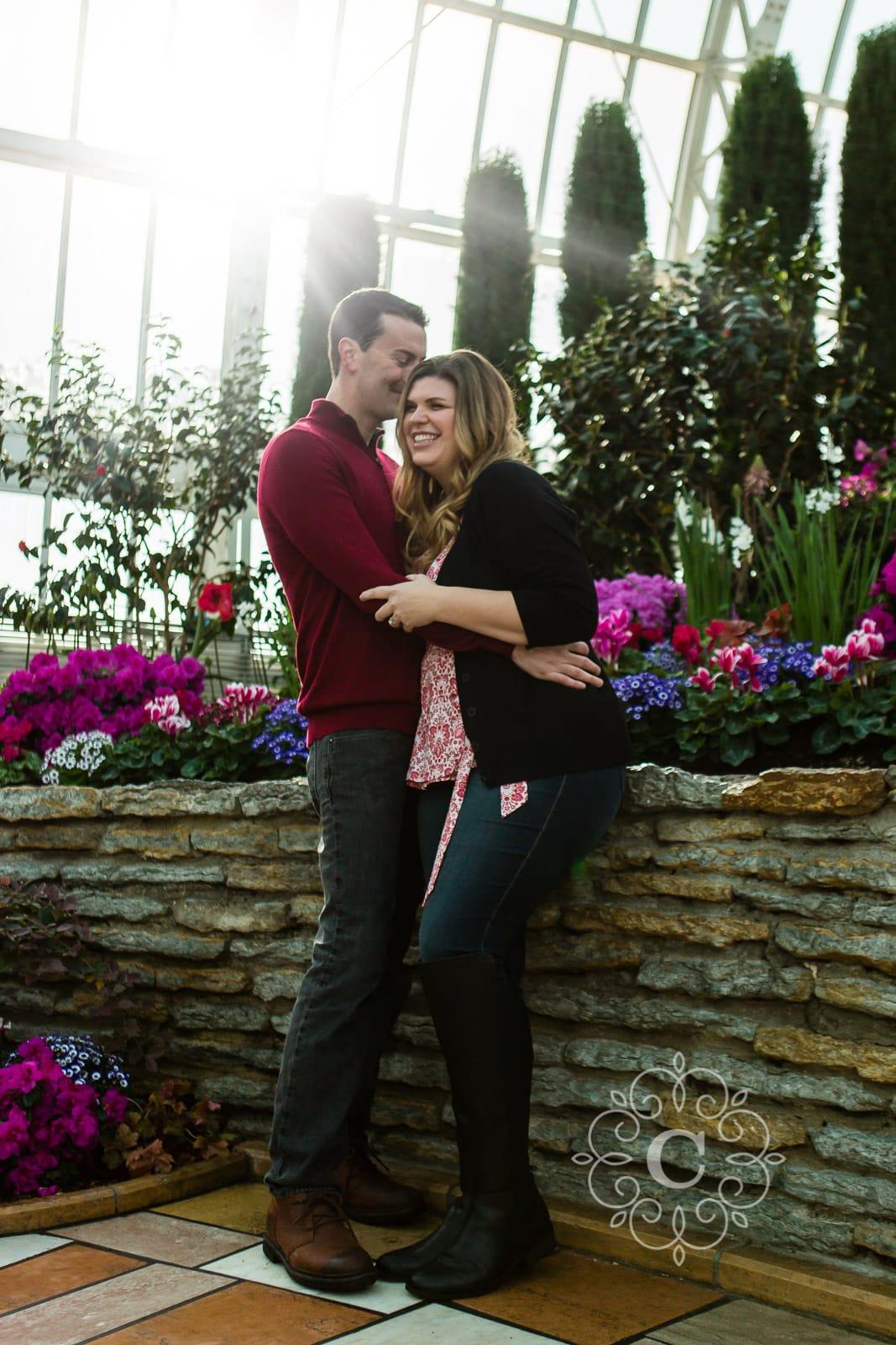 Sunken Garden Como Conservatory Engagement Photo