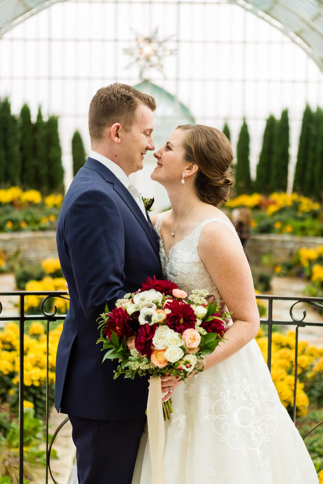 Sunken Garden Como Park Conservatory Wedding Photo
