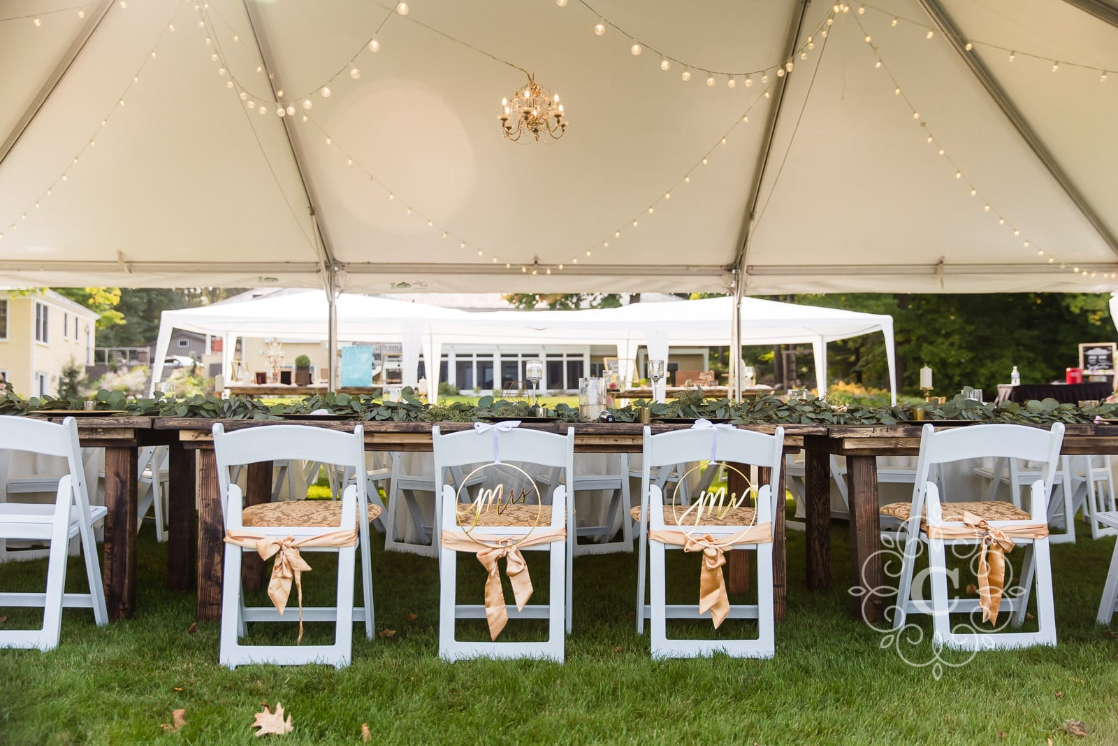 MN Backyard Lakeside Wedding Photo