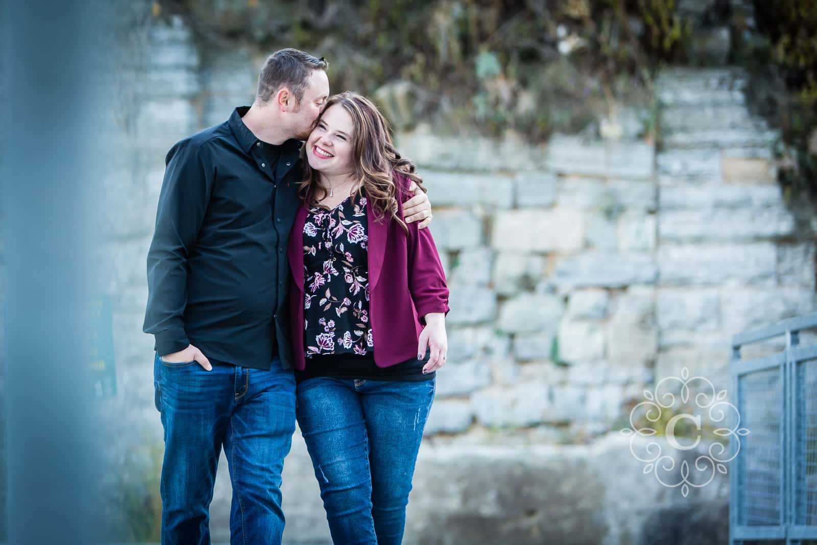 Mill Ruins Park Minneapolis Engagement Photo