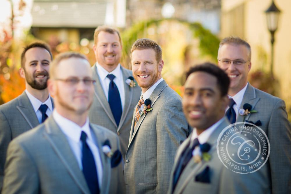 Minneapolis Wedding Photographer Groom Groomsmen Portrait