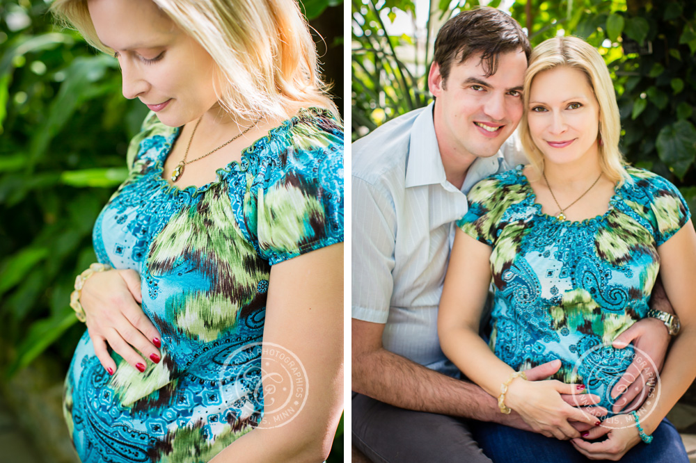 Minneapolis Maternity Photographer Como Park Conservatory Mom Couple