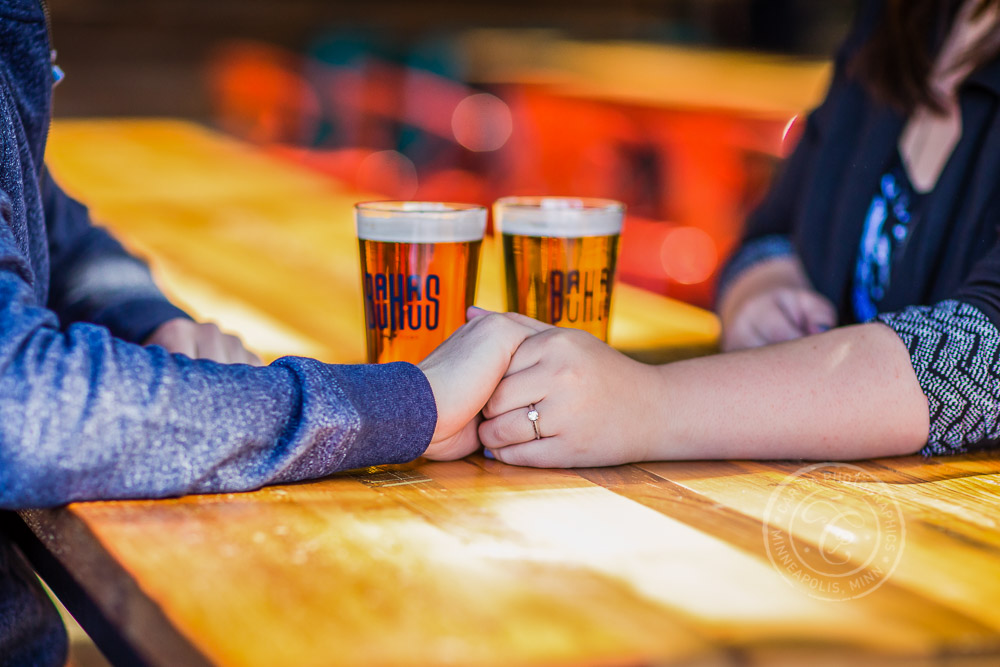 Bauhaus Brew Labs Beer Brewery Minneapolis MN Engagement Photo