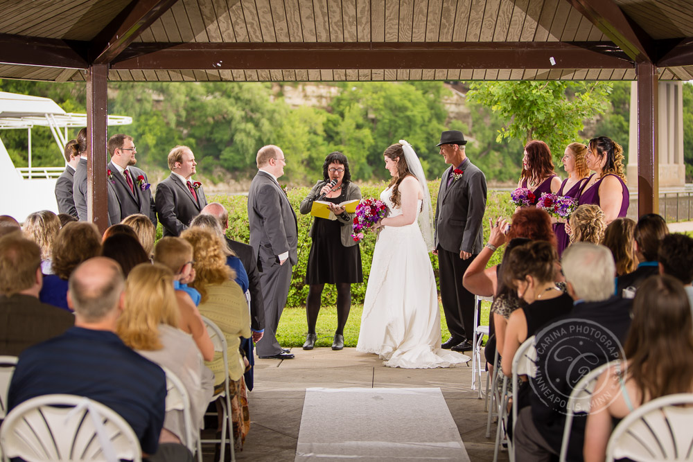 Bohemian Flats Park Minneapolis MN Wedding Photo