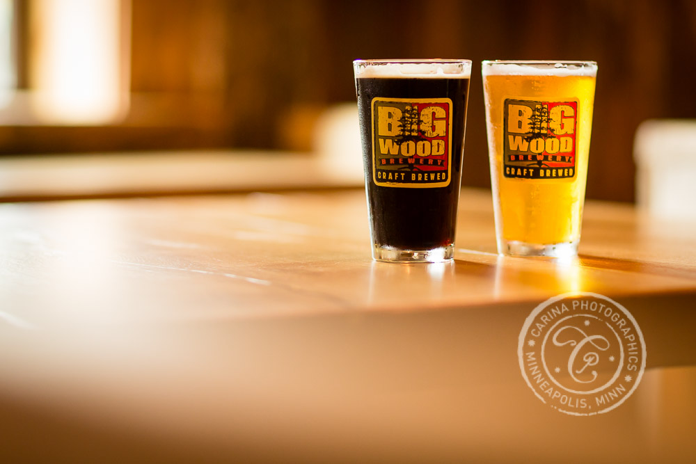 Beer Engagement Session Photo from Big Wood Brewery in White Bear Lake, MN