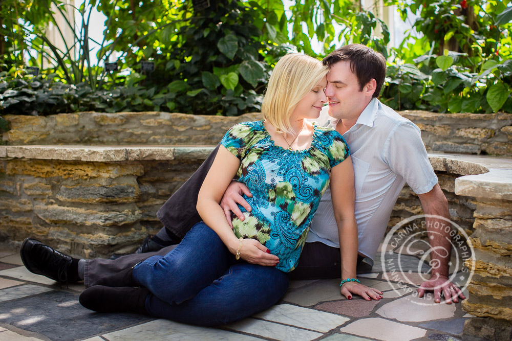 Como Park Conservatory St Paul MN Maternity Photo