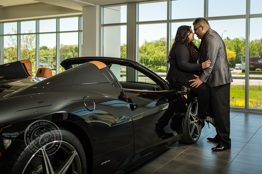 Minneapolis Ferrari Engagement Photo