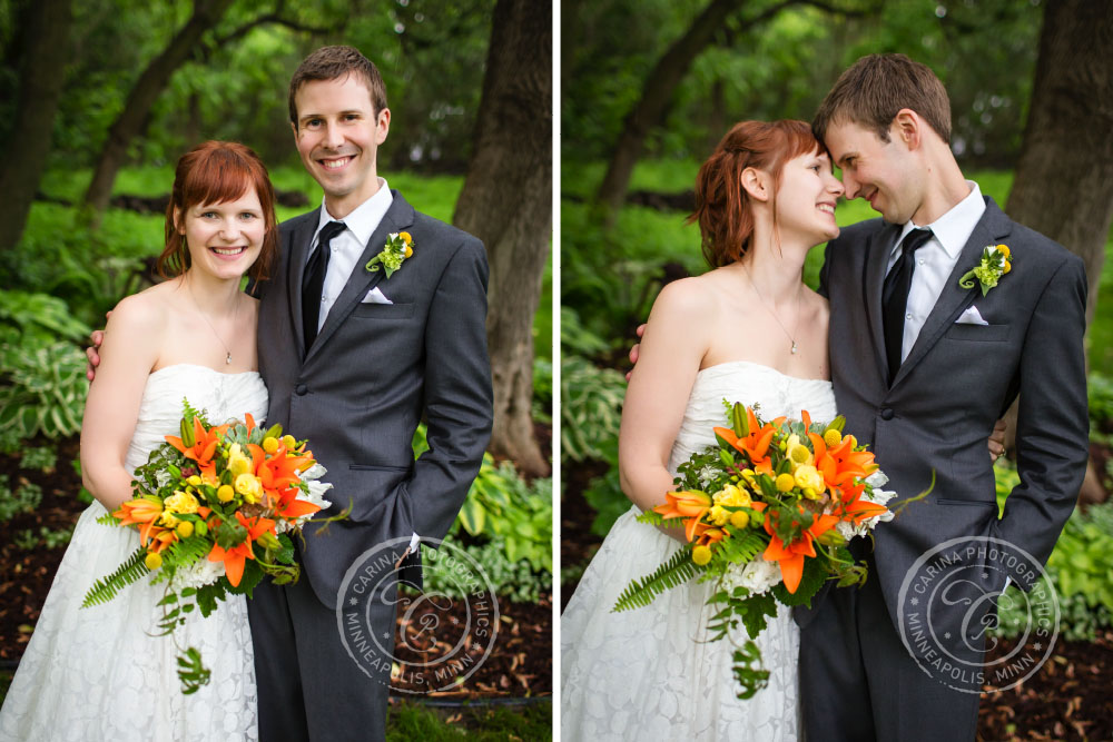 Bride Groom Flowers Outdoor Happy Wedding Day