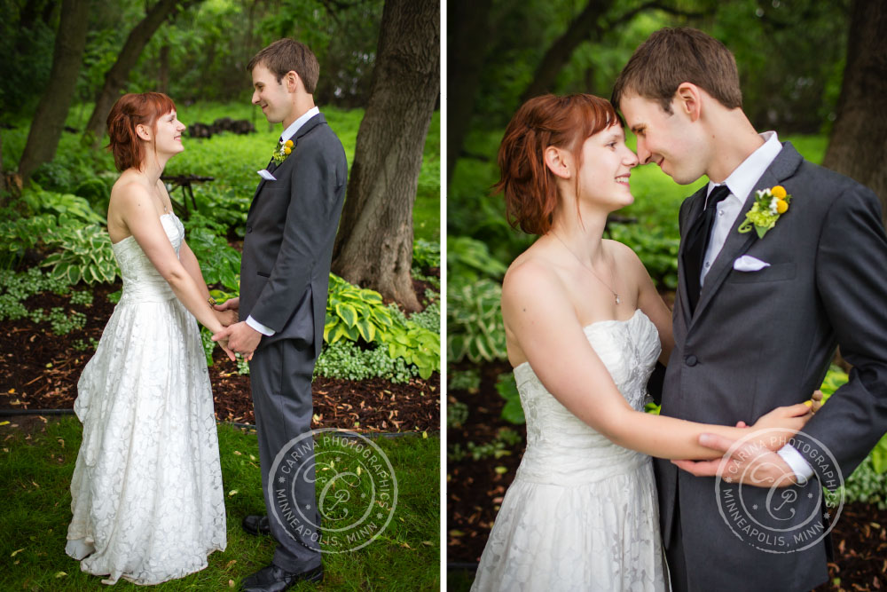 Bride Groom Outdoor Hands Hug Trees