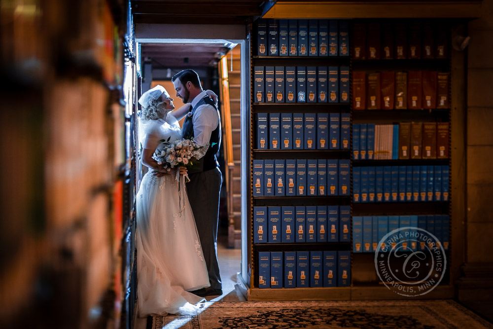 James J Hill Library Wedding Photo