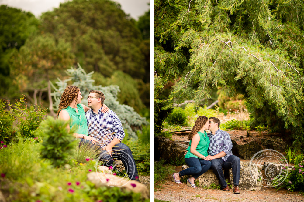 Lyndale Park Peace Garden Minneapolis MN Engagement Photo