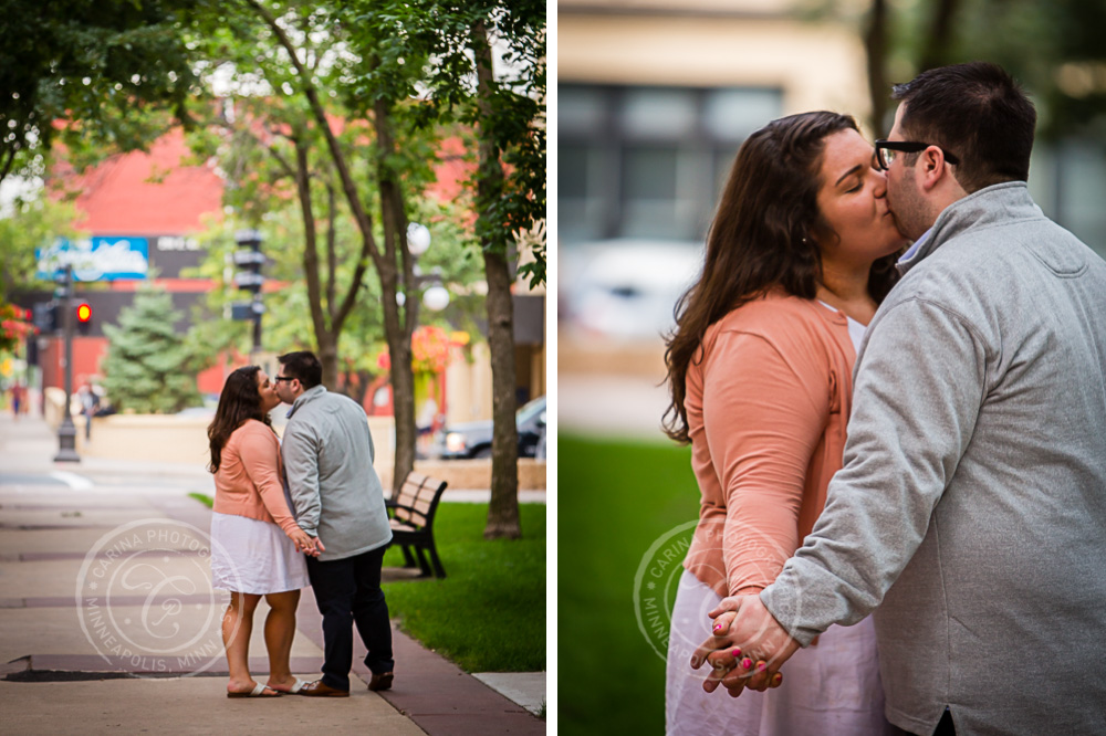 Mears Park St Paul MN Engagement Photos