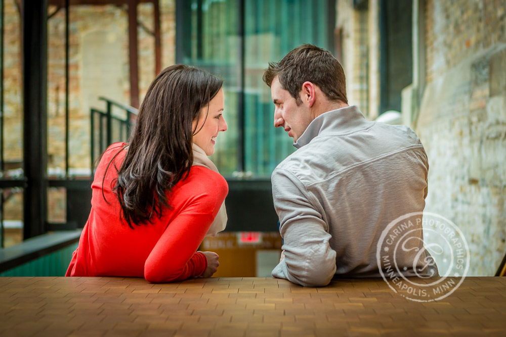 Mill City Museum Minneapolis MN Engagement Photo