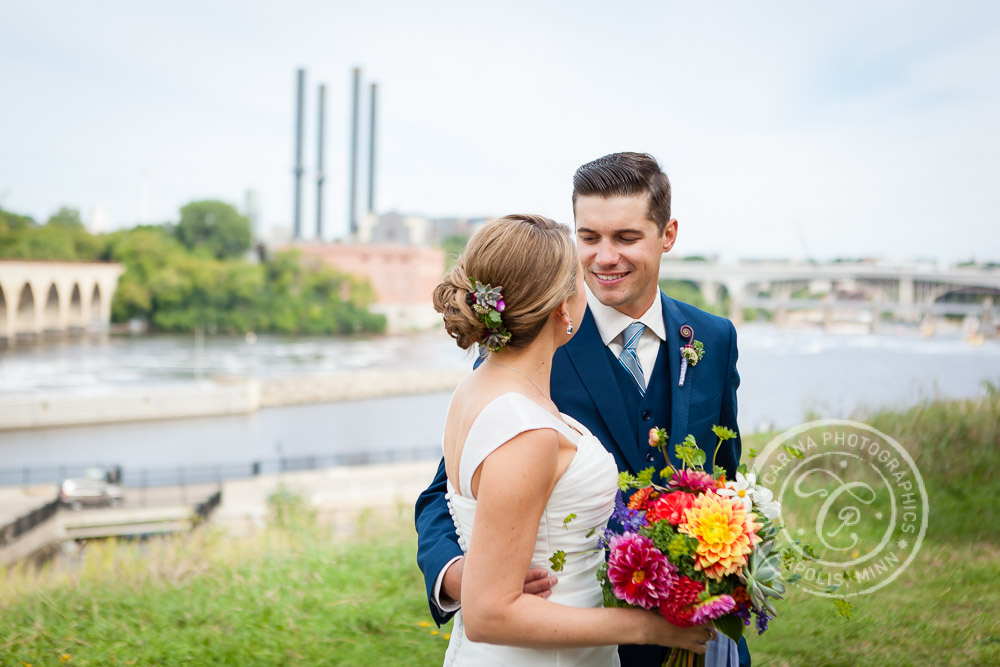 Mill Ruins Park Minneapolis MN Wedding Photo