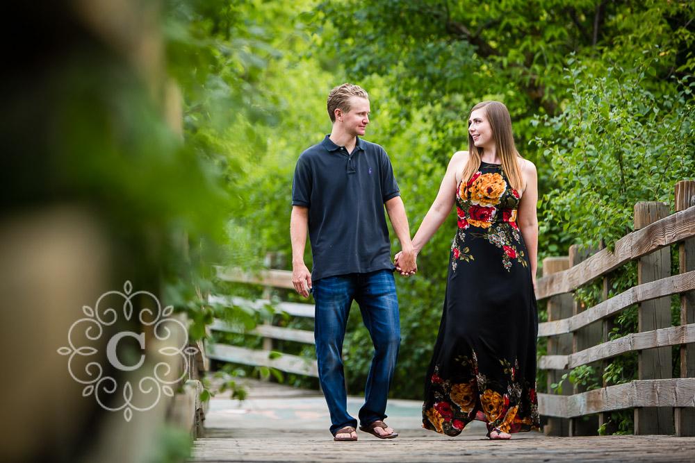 Father Hennepin Bluffs Engagement Photo