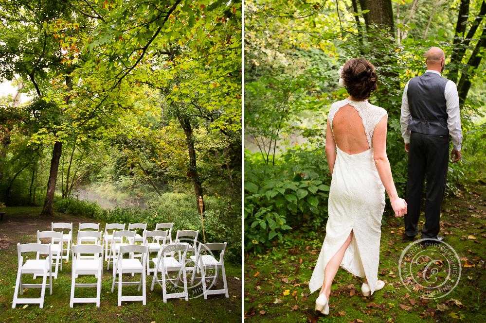 minneapolis outdoor wedding ceremony woods trees river photo 11 Barn, Farm, River + Woods Wedding Minneapolis MN | Shane + Mandy