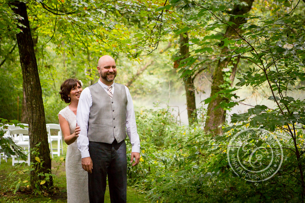 minneapolis outdoor wedding ceremony woods trees river photo 12 Barn, Farm, River + Woods Wedding Minneapolis MN | Shane + Mandy