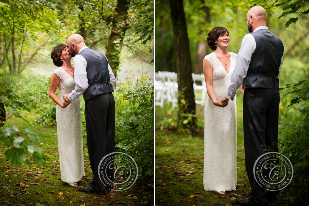 minneapolis outdoor wedding ceremony woods trees river photo 14 Barn, Farm, River + Woods Wedding Minneapolis MN | Shane + Mandy