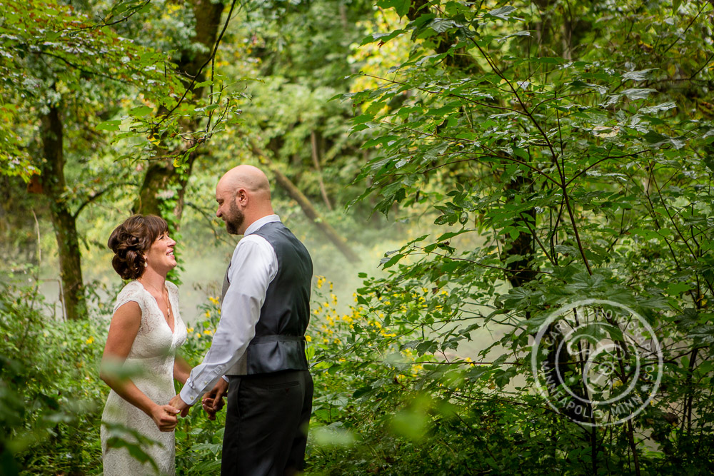 minneapolis outdoor wedding ceremony woods trees river photo 15 Barn, Farm, River + Woods Wedding Minneapolis MN | Shane + Mandy
