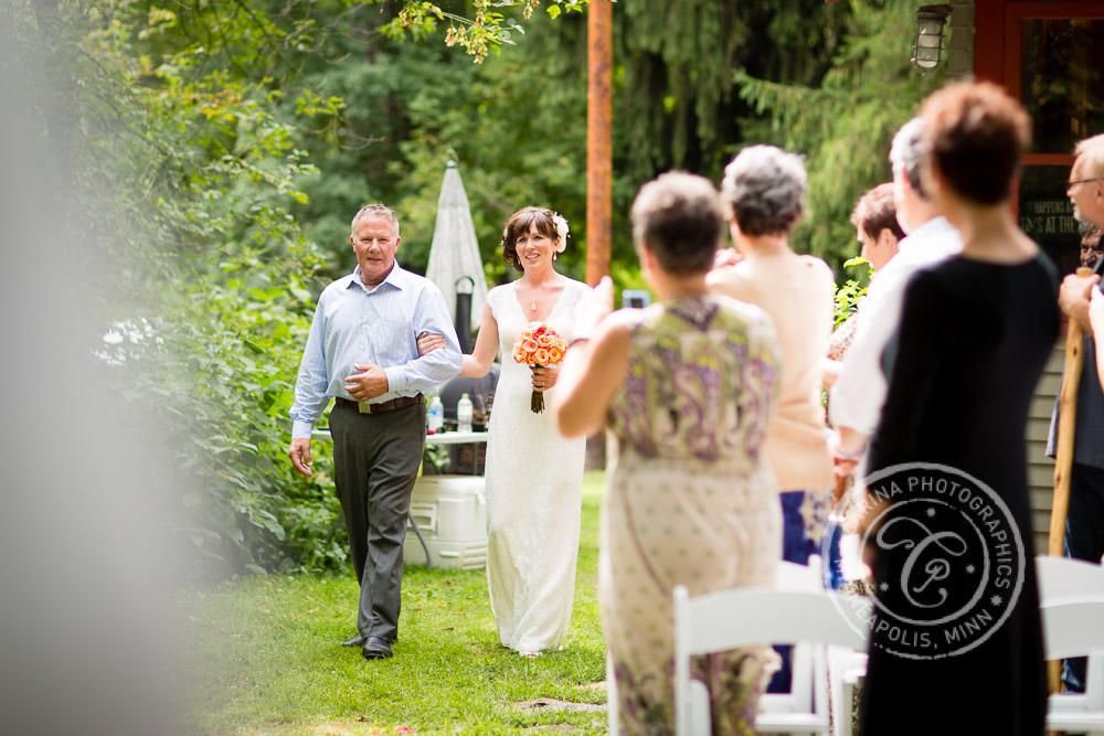 minneapolis outdoor wedding ceremony woods trees river photo 16 Barn, Farm, River + Woods Wedding Minneapolis MN | Shane + Mandy