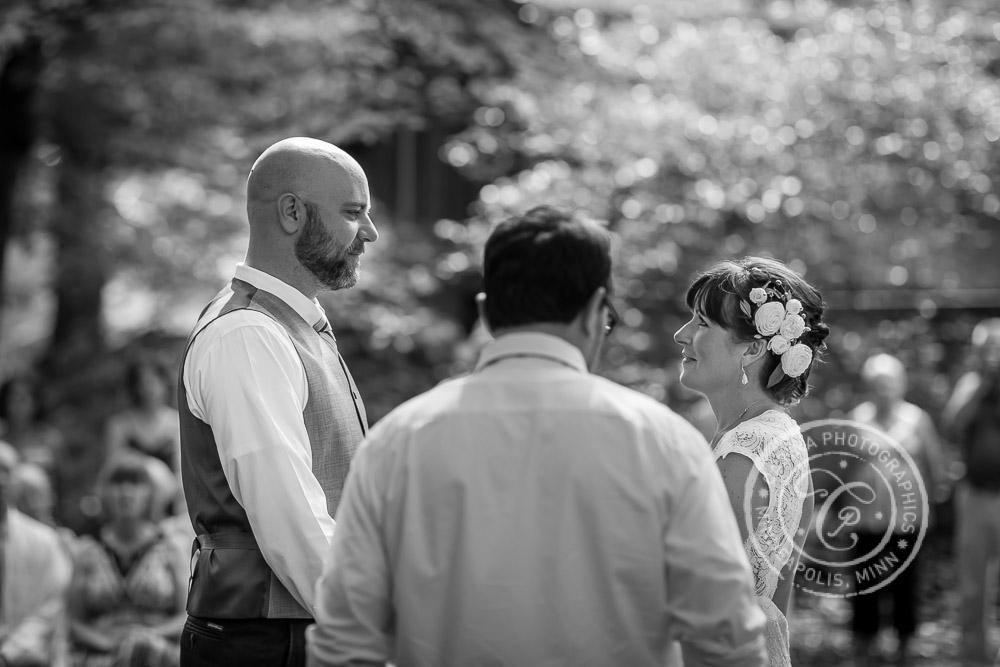 minneapolis outdoor wedding ceremony woods trees river photo 19 Barn, Farm, River + Woods Wedding Minneapolis MN | Shane + Mandy
