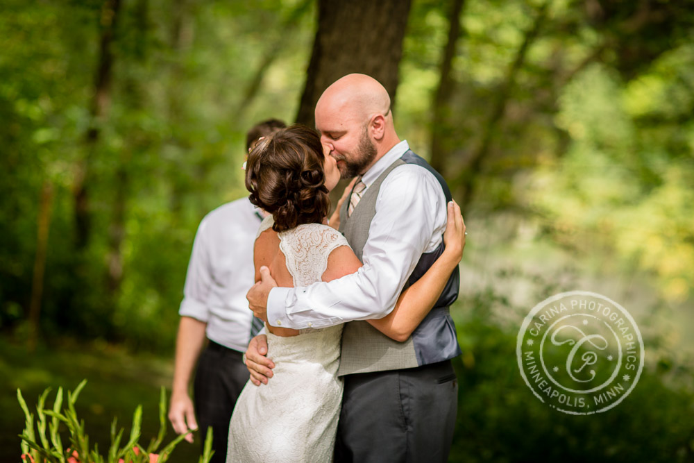minneapolis outdoor wedding ceremony woods trees river photo 21 Barn, Farm, River + Woods Wedding Minneapolis MN | Shane + Mandy