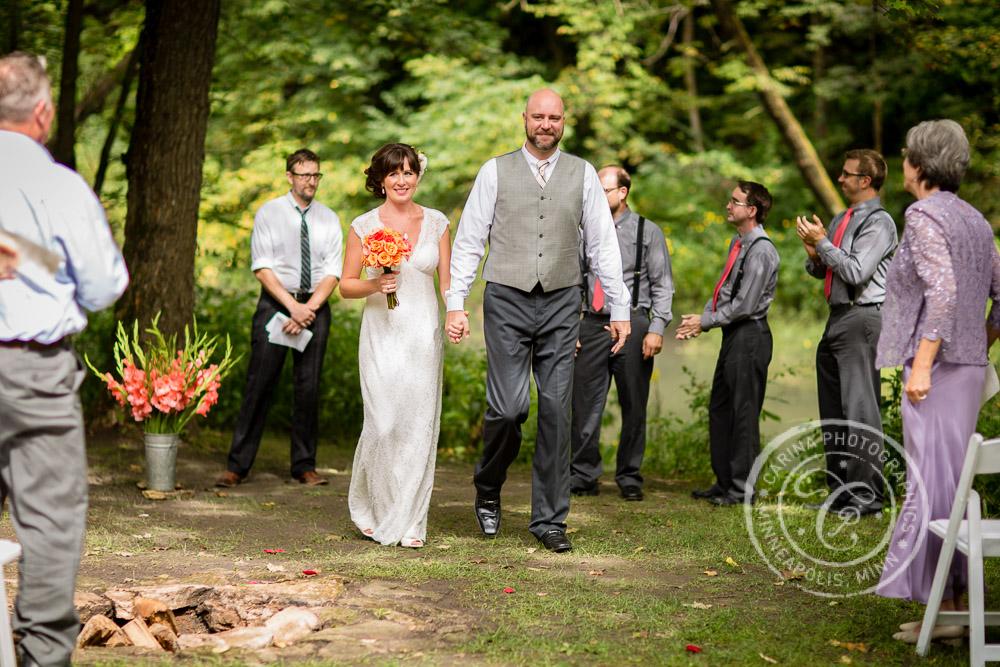 minneapolis outdoor wedding ceremony woods trees river photo 22 Barn, Farm, River + Woods Wedding Minneapolis MN | Shane + Mandy