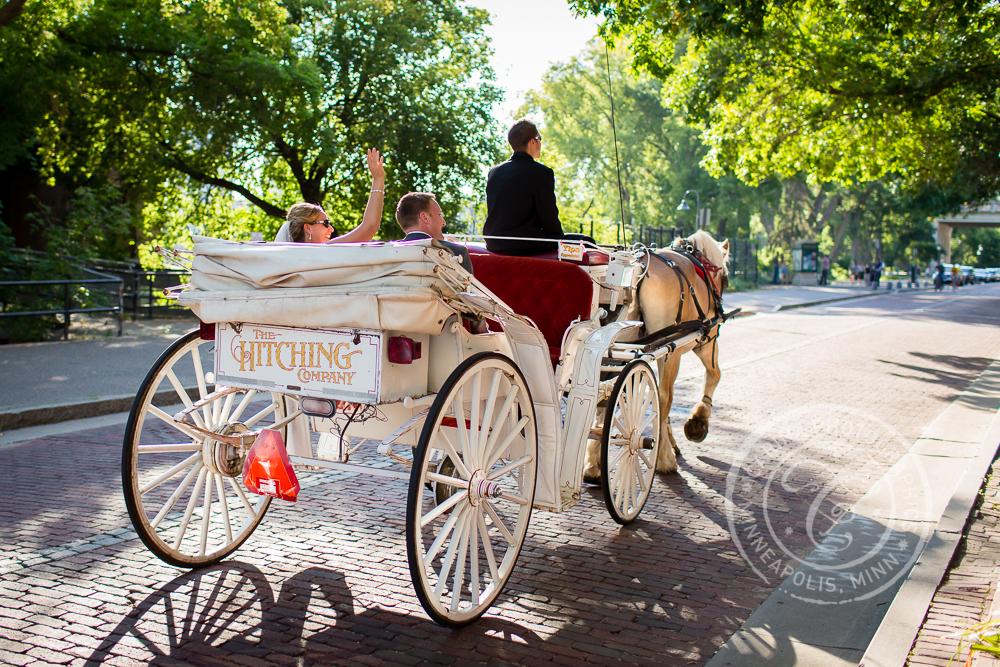 Minneapolis St Anthony Main Wedding Carriage Ride