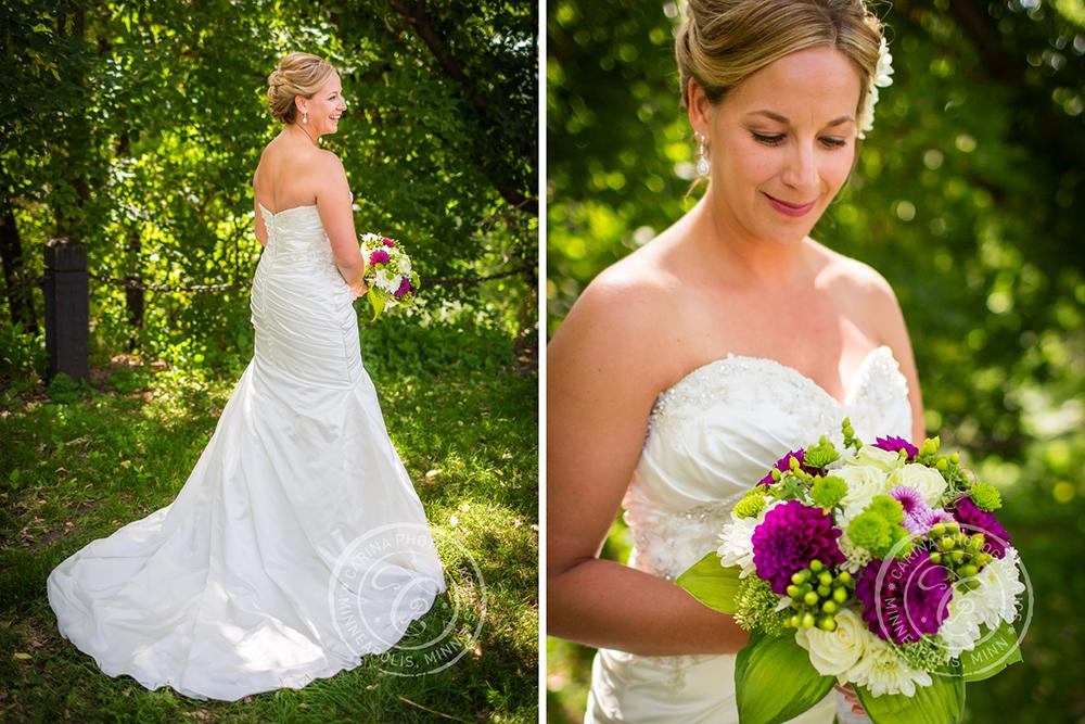 Minneapolis St Anthony Main Park Bride Flowers