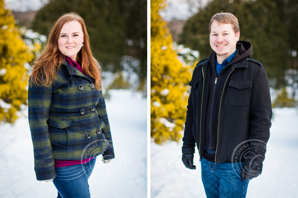 Winter Minnesota Landscape Arboretum Engagement Session Photos