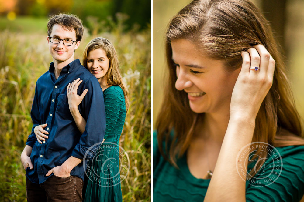 Minnesota Landscape Arboretum Engagement Session Photo