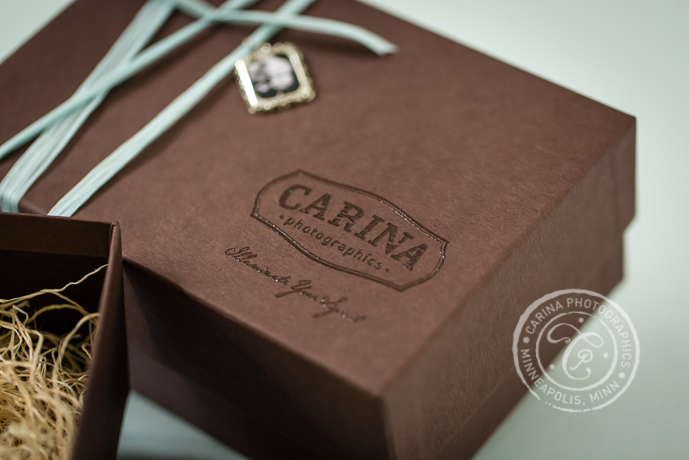 Carina Photographics Photography Packaging Logo Closeup