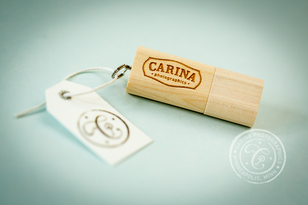 Carina Photographics Photography Packaging USB Zip Drive Closeup