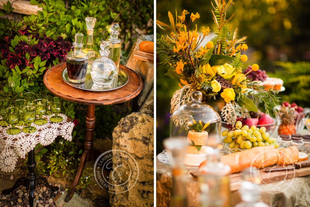 St Paul Garden Wedding Bar Food Table