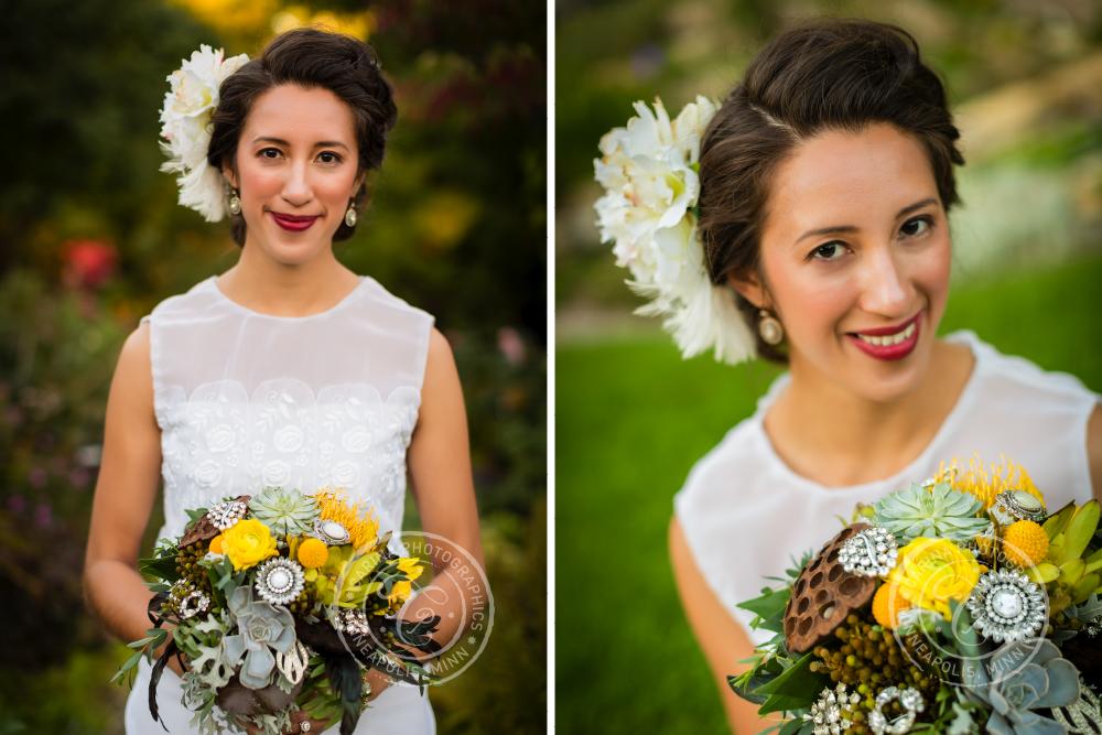 St Paul Garden Wedding Bride Bouquet