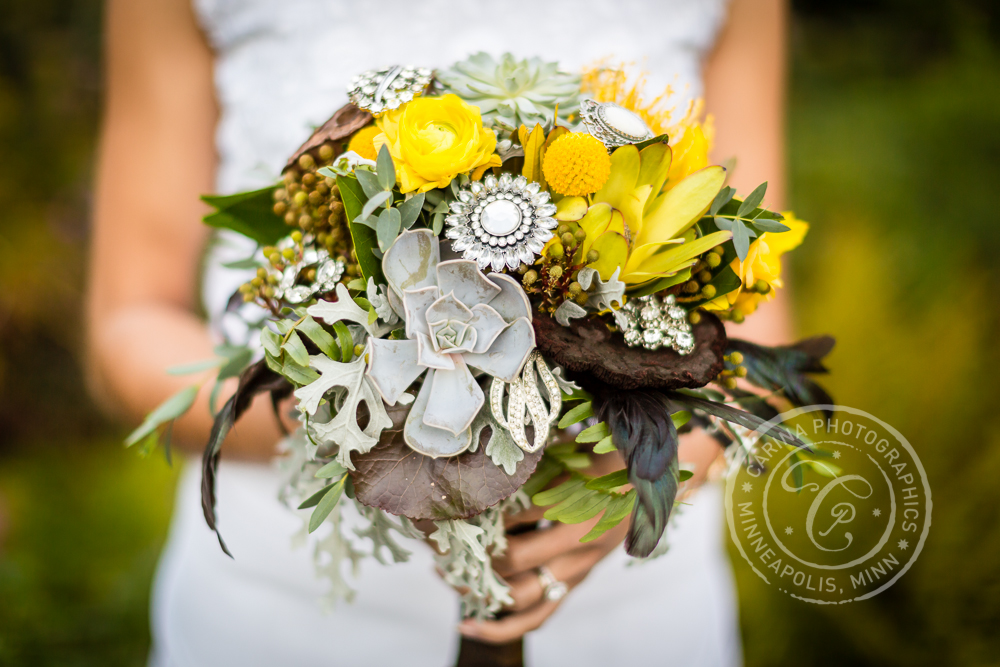 St Paul Garden Wedding Bride Bouquet