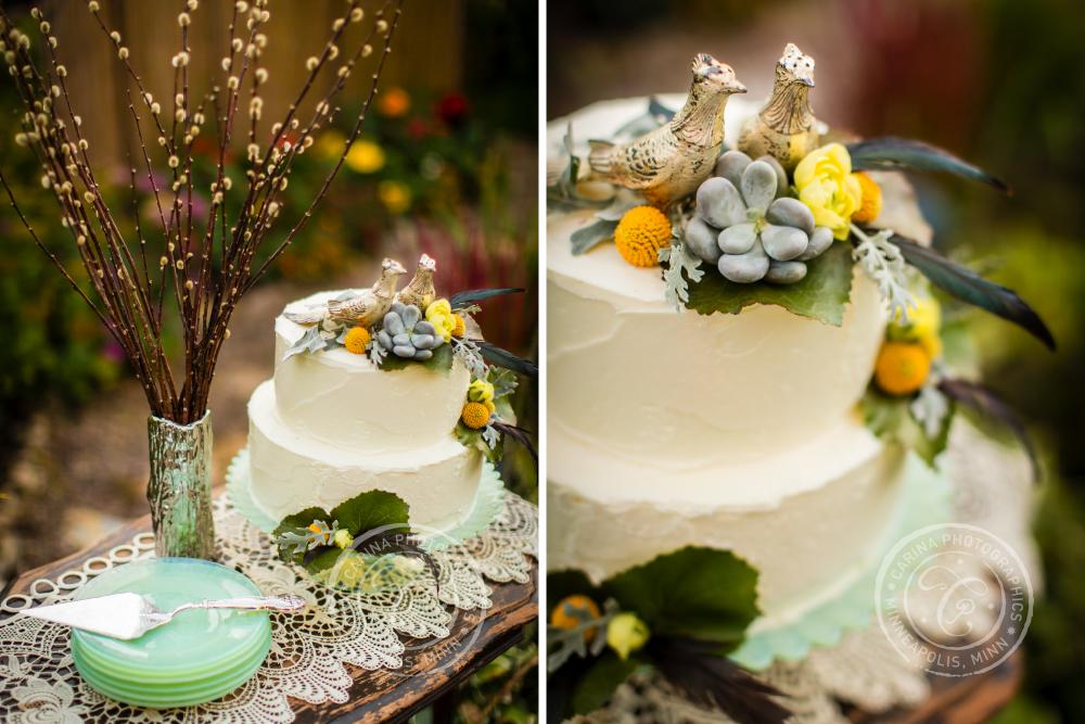 St Paul Garden Wedding Cake Table Bird Topper