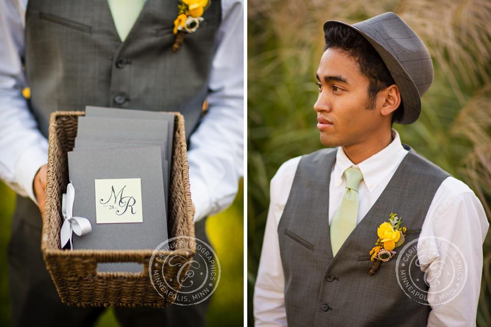 St Paul Garden Wedding Groom Programs