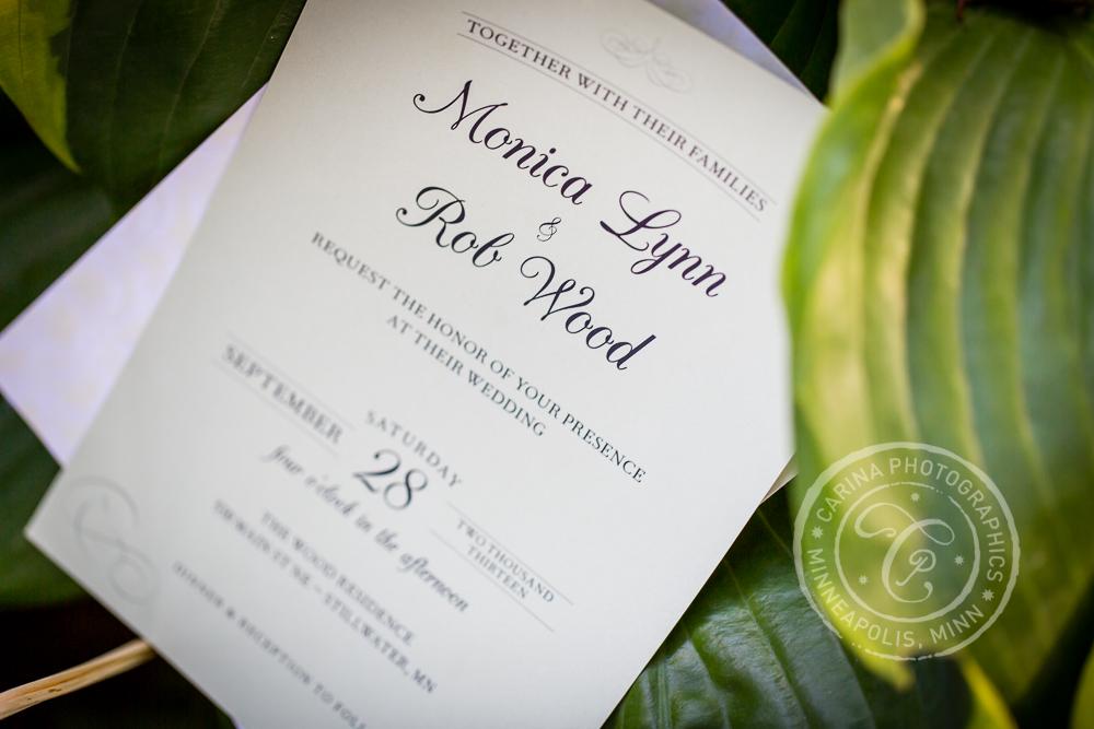 St Paul Garden Wedding Invitation