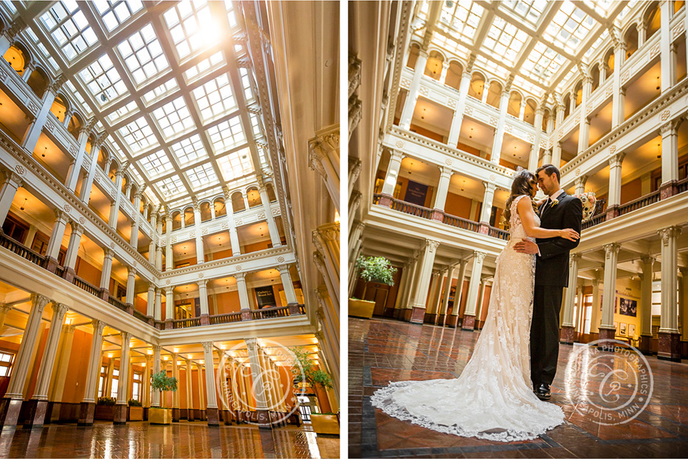 St Paul Wedding Landmark Center Bride Groom