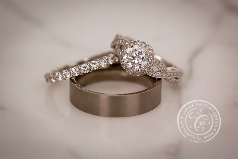 St Paul Wedding Rings Diamond Titanium Marble