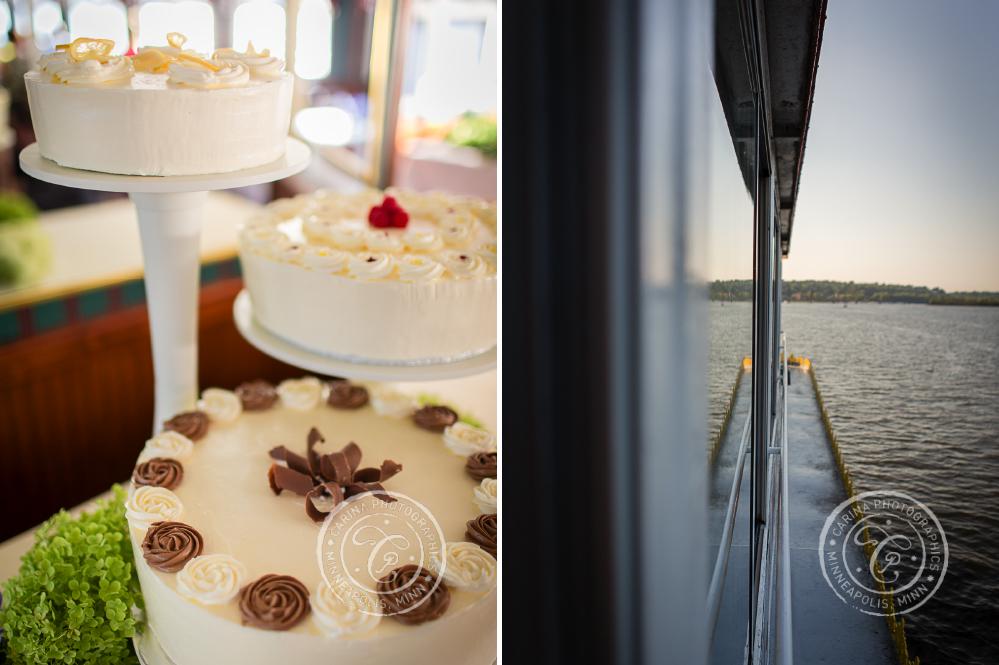 stillwater mn paddleboat cruise wedding photo 2 Pioneer Park Stillwater MN Wedding | Brian + Liz