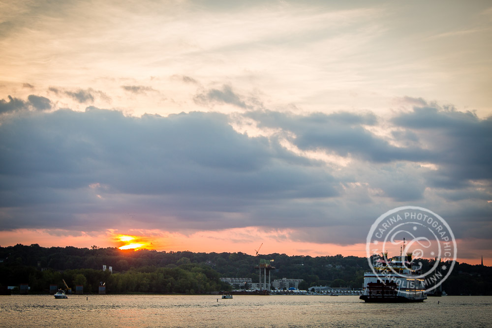 Stillwater MN Paddleboat Cruise Wedding Photo